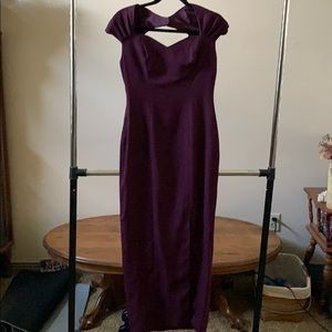 Vintage Purple Prom Maxi Dress
